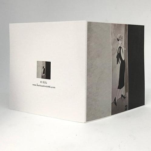 Femme noir-blanc - Carte