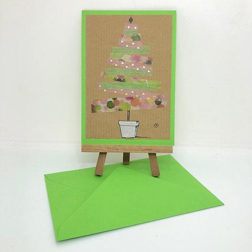 Carte sapin vert