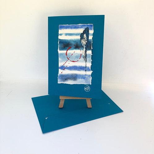 Carte silhouette bleue