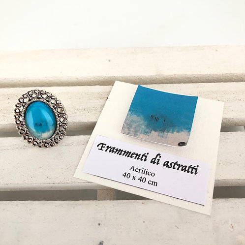 Bague ovale - Turquoise