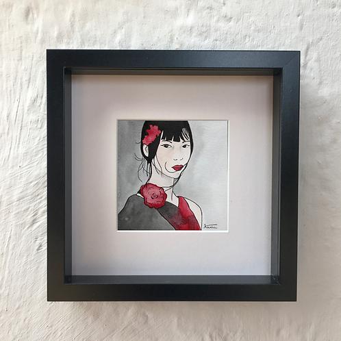 Portrait rouge et noir