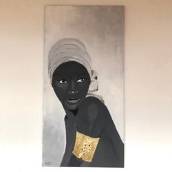 Acrylique et feuille d'or