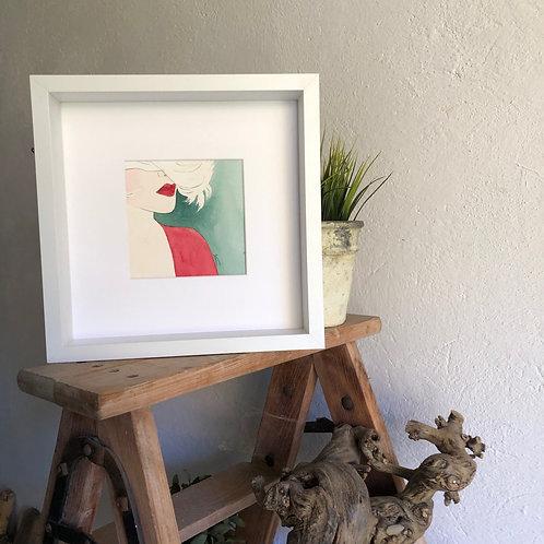 Portrait rouge vert