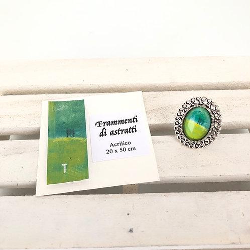 Bague ovale - Vert