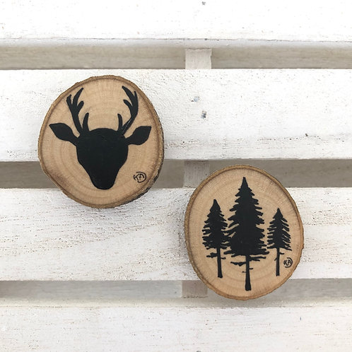 Magnets cerf-sapins