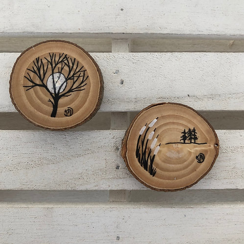 Magnets arbre-roseaux