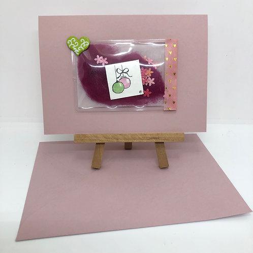 Carte pochette rose