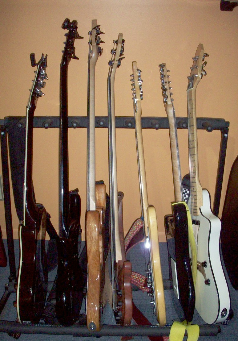 guitars and bases