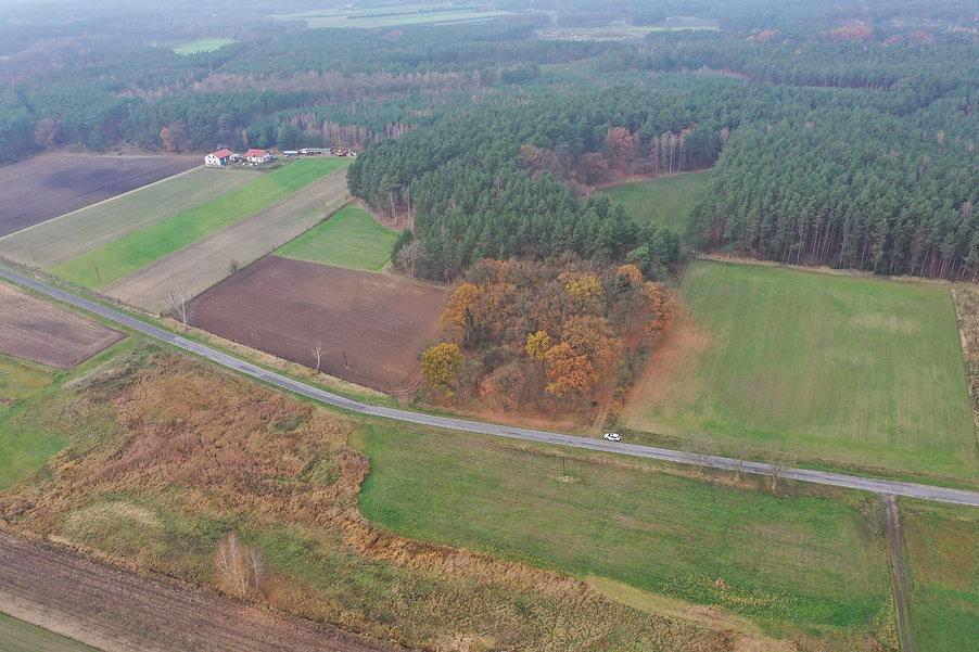 Cmentarz w Lubowie Drugim: zdjęcie lotnicze