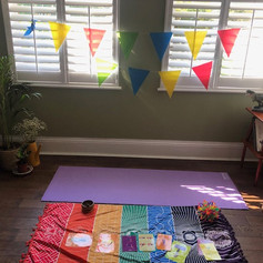 Yoga Bearz new class set up, whilst in Lock Down