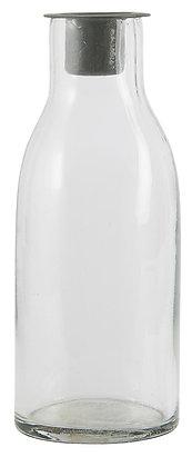 Bougeoir bouteille I zinc