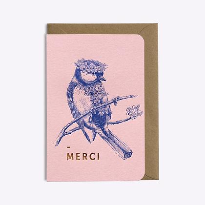 Carte MERCI FLOWER POWER | LES EDITIONS DU PAON