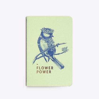 Carnet cousu FLOWER POWER