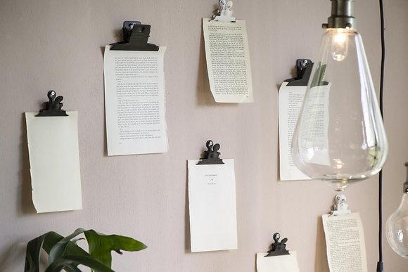Pince papier aimantée - noire | IB LAURSEN
