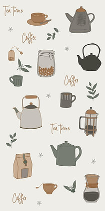 Serviettes x16 imprimé Tea Time/Coffee