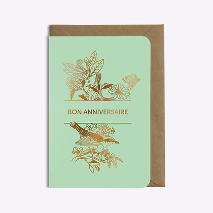 Carte ANNIVERSAIRE BIRDS