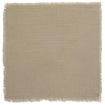 Serviettes de table grège (lot de 4)