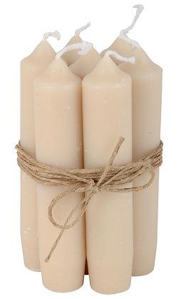 Lot de 6 bougies short dinner - sable | IB LAURSEN