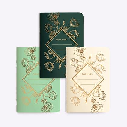 Trio petits carnets POPPY | LES EDITIONS DU PAON