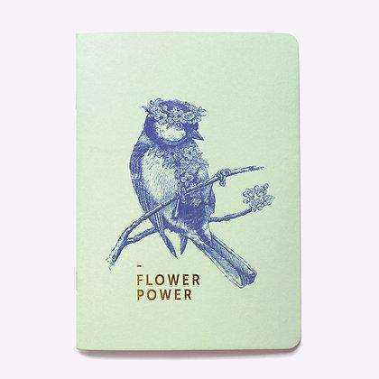 Cahier ligné FLOWER POWER | LES EDITIONS DU PAON