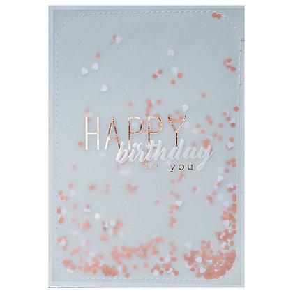 Carte HAPPY BIRTHDAY CONFETTIS
