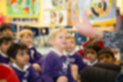 Story reading in our nursery