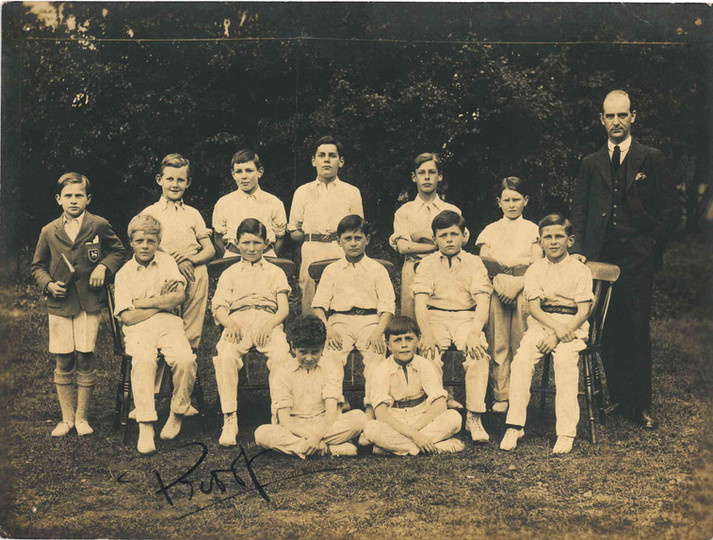 Claude and the cricket team late 1920s.j