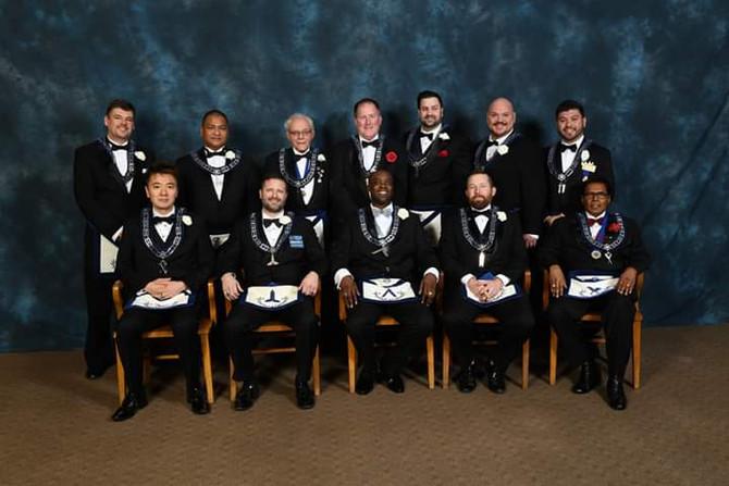 2019 Golden Rule Lodge Officers