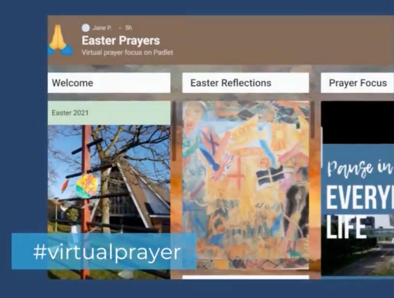 Prayers on the padlet web app