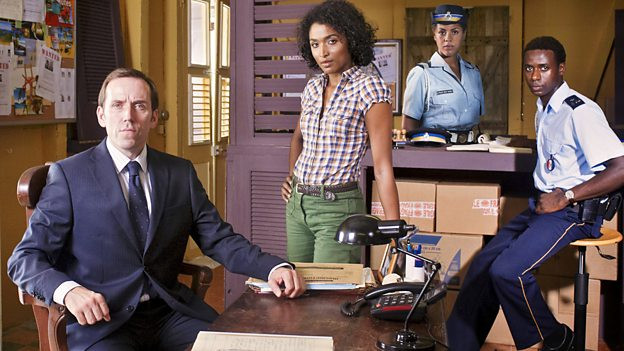 The acting team for Death in Paradise Series 1