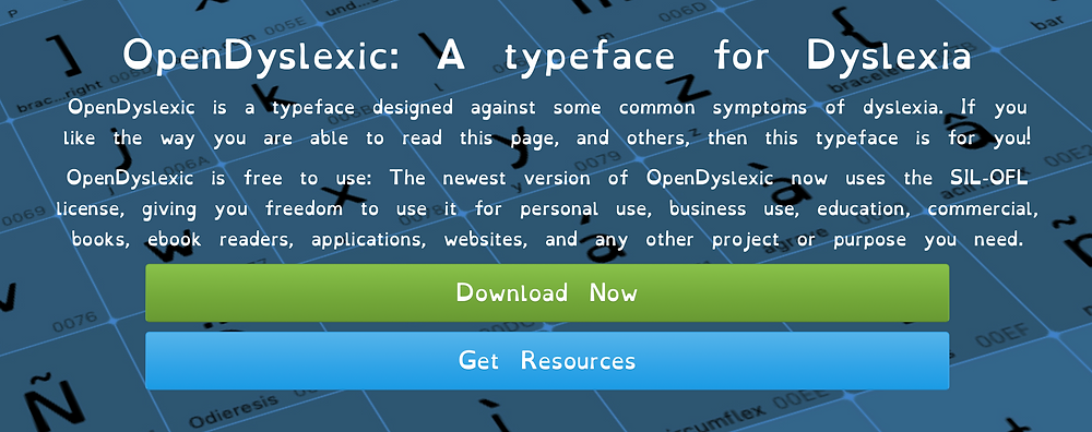 Open Dyslexic Home Page
