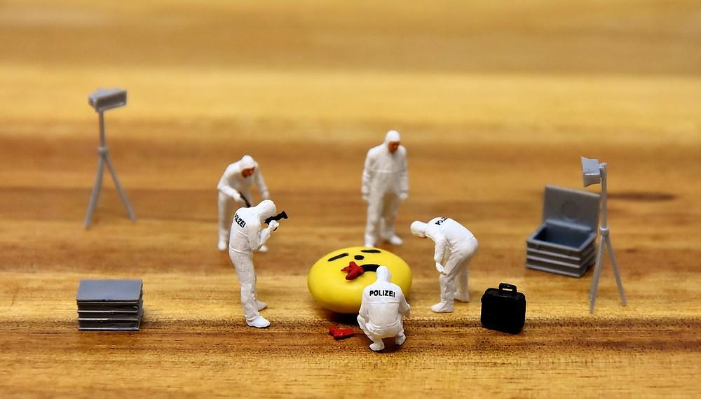 A toy police crime scene