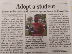 Adopt-a-Student: Everett Mother Motivates City to Encourage Members of the Class of 2020
