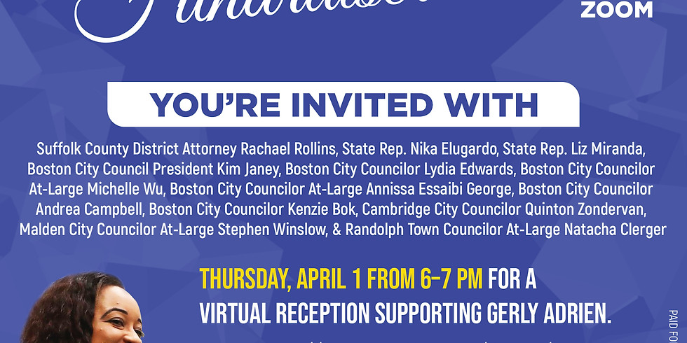 Spring Fundraiser for Gerly Adrien City Council Re-Election