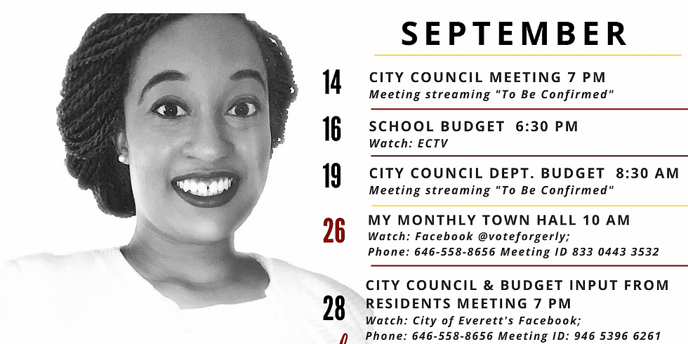 September Monthly Town Hall