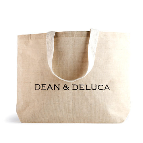 DEAN & DELUCA NATURAL COTTON JUTE TOTE BAG [シンガポール配送のみ]