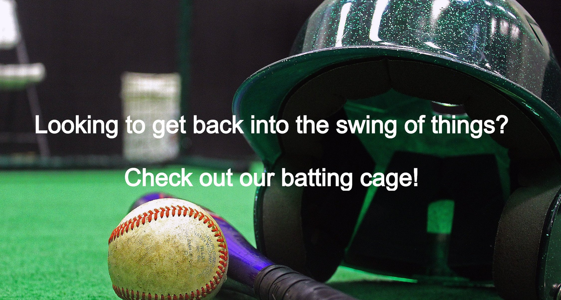 batting cage w/text