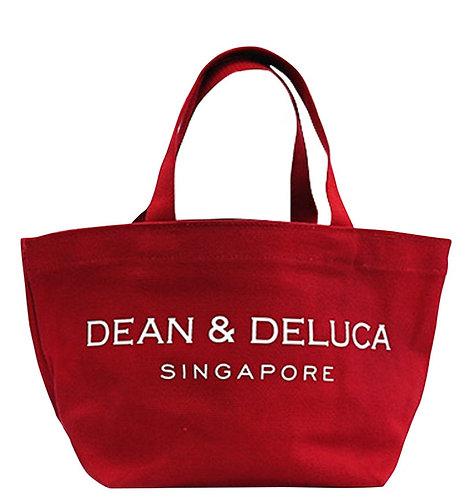 DEAN & DELUCA RED TOTE BAG (L)
