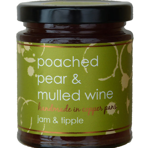 JAM & TIPPLE POACHED PEAR & WINE 227G