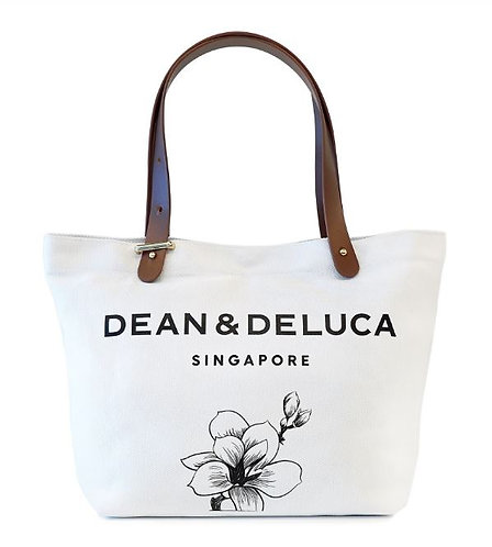 DEAN & DELUCA SNOW WHITE TOTE BAG (L)
