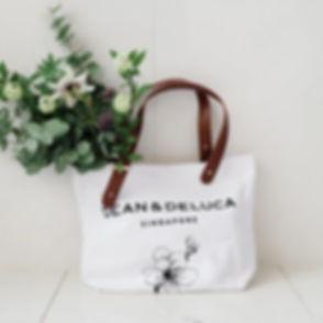 Dean & Deluca Snow White Tote Bag (4).jp