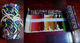 BTSKY Canvas Pencil Roll Wrap