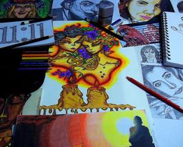 Desktop Art Spread