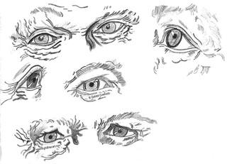 Eyes Drawing Practice