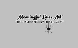 Meaningful Lines Art® video title with tagline and spider logo.