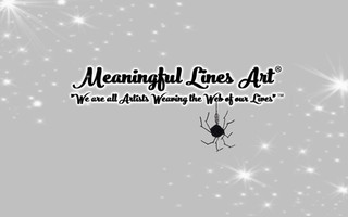 Meaningful Lines Art® video title with glow fonts and stardust effect.