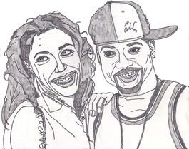 Aaliyah and Damon