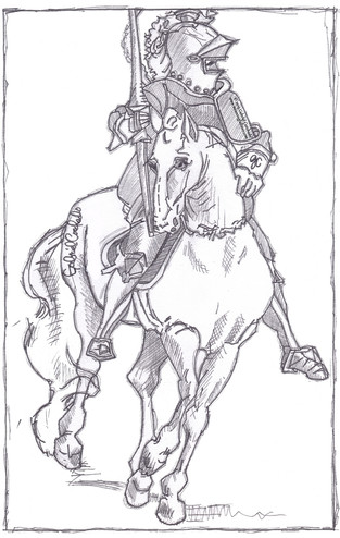 German Horse and Rider