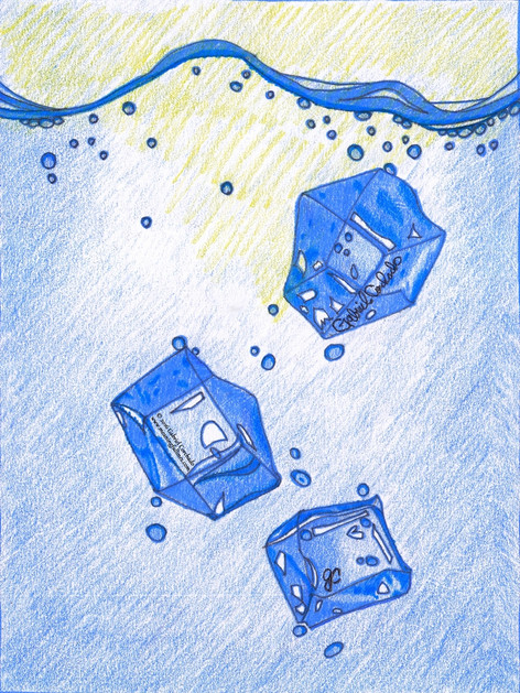 Ice Cubes in the Ocean