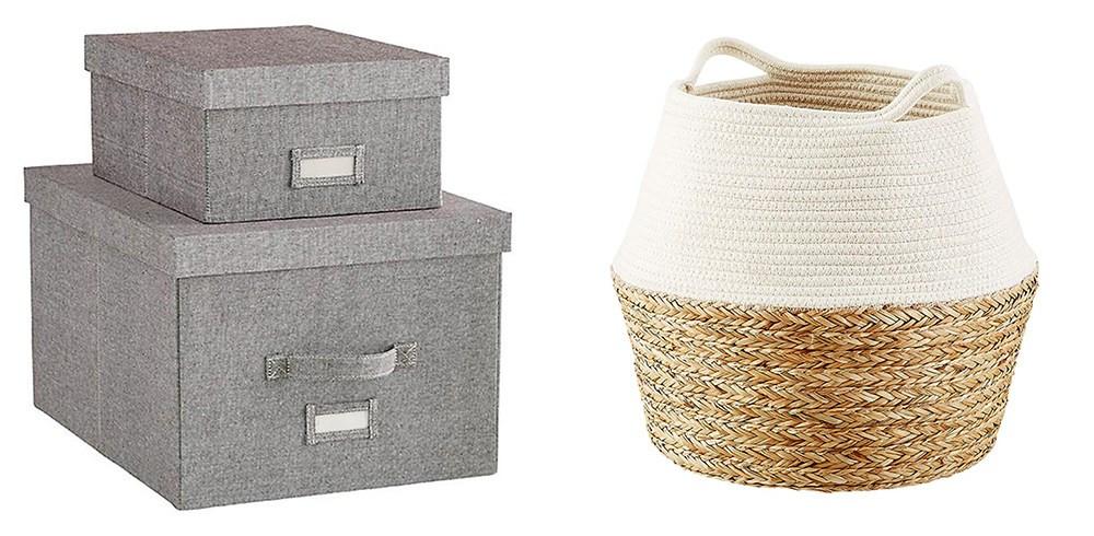 Gray Storage boxes